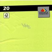 Fasana Papírové ubrousky barevné zelené 3 vrstvé 33 x 33 cm 20 kusů