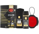 Axe Men Gold sprchový gel pro muže 250 ml + deodorant sprej pro muže 150 ml + mycí houba, kosmetická sada