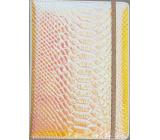Albi Blok holografický linkovaný na gumičku Oranžovo-růžový 19,5 x 14,2 x 1,5 cm