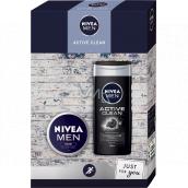 Nivea Men Active Clean sprchový gel 250 ml + krém 75 ml, kosmetická sada pro muže