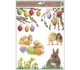 Okenní fólie bez lepidla kočičky s králíkem 30 x 42 cm