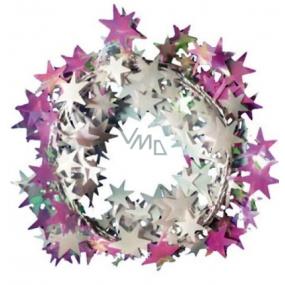 Řetěz s drátkem perleťový s hvězdičkami 270 cm