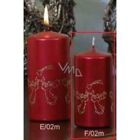 Lima Andělé trubači svíčka červená válec 50 x 100 mm 1 kus