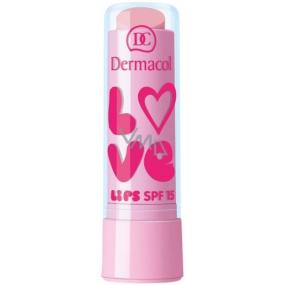 Dermacol Love Lips SPF15 balzám na rty 07 Cotton Bloom 3,5 ml