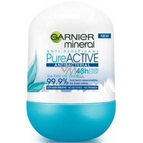 Garnier Mineral Pure Active Antibacterial 48h kuličkový antiperspirant deodorant roll-on pro ženy 50 ml