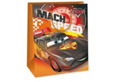 Ditipo Disney Dárková papírová taška dětská XL Cars Mach Speed 33 x 10,2 x 45,7 cm