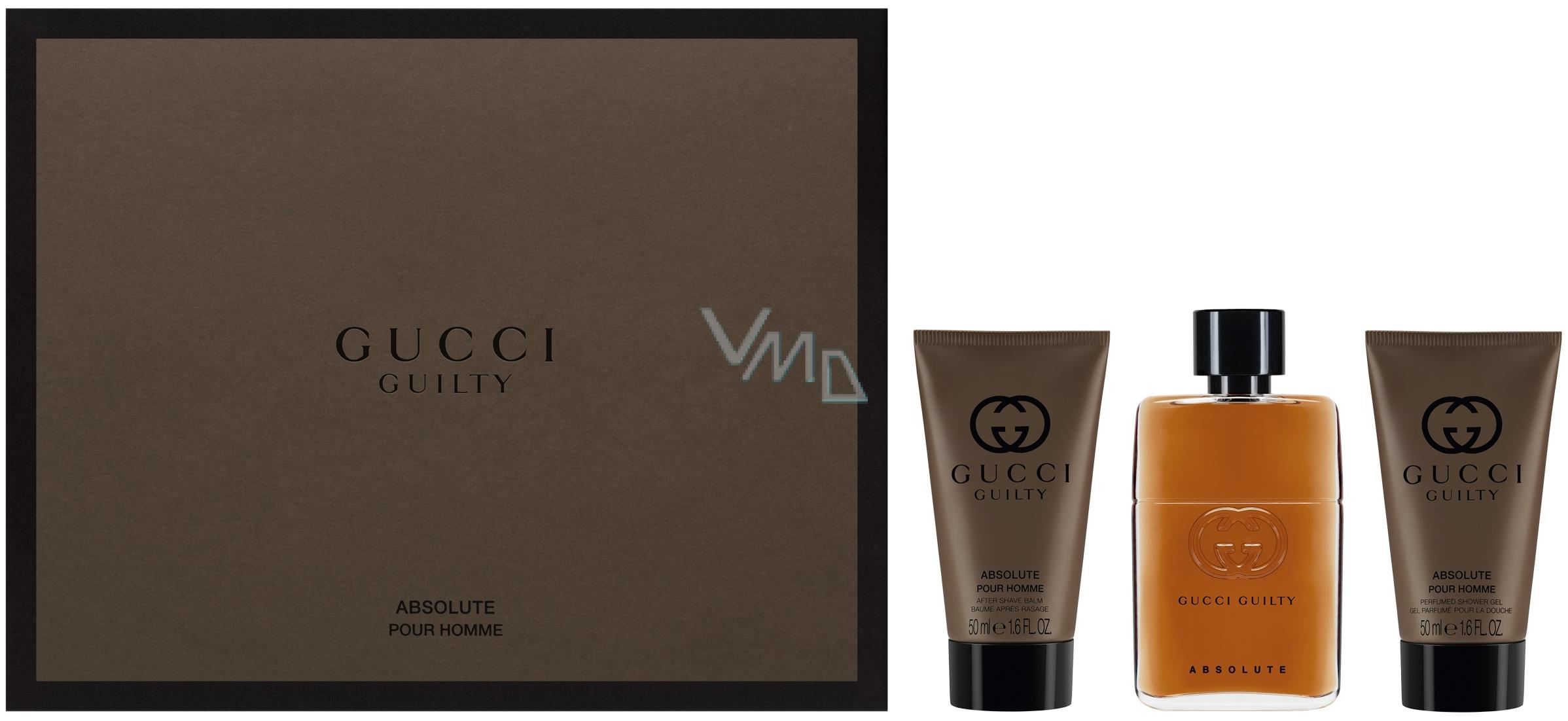 1d2510c35 Gucci Guilty Absolute parfémovaná voda pro muže 50 ml + balzám po holení 50  ml +