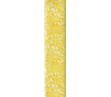 Nekupto Balící papír Žlutý s květinami 70 x 150 cm