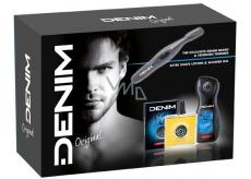Denim Original voda po holení pro muže 100 ml + sprchový gel 250 ml + Trimmer - kadeřník na vousy, kosmetická sada