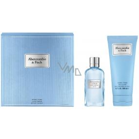 Abercrombie & Fitch First Instinct Blue Woman parfémovaná voda pro ženy 50 ml + tělové mléko 200 ml, dárková sada