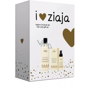 Ziaja Arganový olej vyhlazující šampon na vlasy 300 ml + sérum na vlasy 50 ml, kosmetická sada