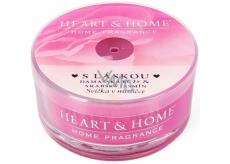 Heart & Home S láskou Sojová vonná svíčka v mističce hoří až 12 hodin 36 g
