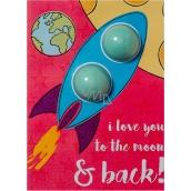 Bomb Cosmetics Láska až na Měsíc - To The Moon & Back Šumivé přání s balistikem 40 g