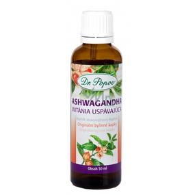 Dr. Popov Ashwagandha (Vitánie snodárná) originální bylinné kapky pro dobrý spánek, duševní zdraví a zmírnění stresu doplněk stravy 50 ml