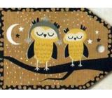 Nekupto Vánoční kartičky na dárky sovy 5,5 x 7,5 cm 6 kusů