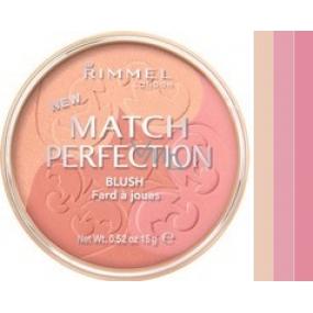 Rimmel London Match Perfection Trio tvářenka 001 Light 15 g