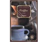 Tea Lights s vůní Kávy vonné čajové svíčky 6 kusů