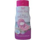 Hello Kitty Vůně exotického ovoce 2v1 šampon a kondicionér pro děti 250 ml