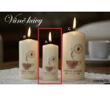 Lima Káva vonná svíčka krémová válec 40 x 90 mm 1 kus