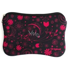 Albi Original Neoprenová taška Růžové květy, 17,5 × 11,5 cm
