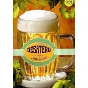 Albi Hrací přání do obálky K narozeninám Desatero pivních přikázání Jarošovský pivovar Argema 14,8 x 21 cm