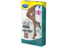 Scholl Light Legs Kompresní punčochové kalhoty L hnědé 20 den pomáhají zabraňovat pocitu únavy nohou a snižují pocit těžkých nohou