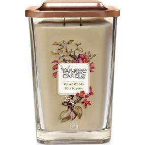 Yankee Candle Velvet Woods - Sametové dřevo sojová vonná svíčka Elevation velká sklo 2 knoty 553 g