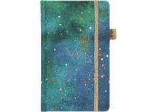 Albi Diář 2020 kapesní s gumičkou Hvězdná tapeta 15 x 9,5 x 1,3 cm