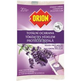 Orion Totální ochrana Levandule kuličky proti molům 20 kusů