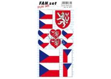 Arch Fan Set Česká republika samolepky a tetovačky 8 x 15 cm 1 kus