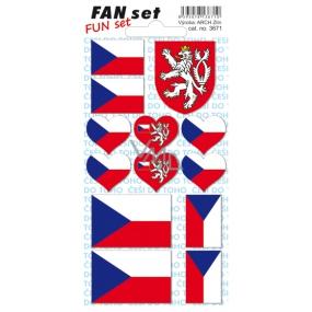 Arch Tetovací obtisky na obličej i tělo Česká republika vlajka 8 x 15 cm 1 kus