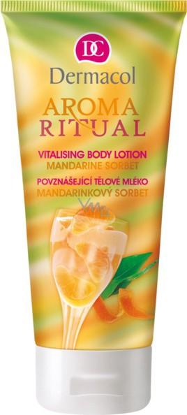 Dermacol Aroma Ritual Mandarinkový sorbet povznášející tělové mléko 200 ml
