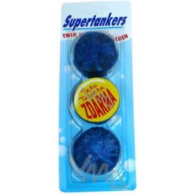 Supertankers Twin Blue Wc tablety do nádrže 2 + 1, 3 x 50 g modré