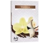 Bispol Aura Vanilla - Vanilka vonné čajové svíčky 6 kusů