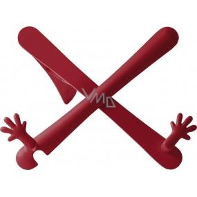 If The Hands Stand Držák na knihy/tablety Červený 25 x 45 x 210 mm