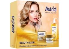 Astrid + čBeauty Elixir denní krém proti vráskám 50 ml + čisticí pleťový olej 145 ml, kosmetická sada