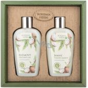 Bohemia Gifts Kokos zvláčňující sprchový gel 250 ml + šampon na vlasy 250 ml, kosmetická sada