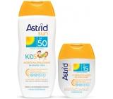 Astrid Sun Kids OF50 mléko na opalování 200 ml + Sun OF15 Hydratační mléko na opalování 80 ml, duopack