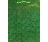 Nekupto Dárková papírová taška velká 32 x 26 x 13 cm Vánoční, zelená hologramová 050 50 THL