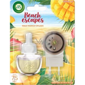 Air Wick Beach Escapes Maui mangové šplíchnutí elektrický osvěžovač vzduchu komplet 19 ml