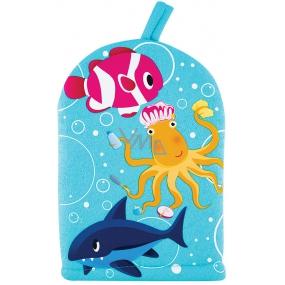 Baylis & Harding Kids Chobotnice rybička a žralok mycí žínka pro děti 1 kus