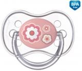 Canpol babies Newborn Baby Šidítko silikonové symetrické růžové pro děti od 0-6 měsíců