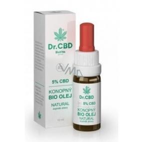 Dr. CBD 5% CBD Bio Konopný olej - Fénixovy kapky snižuje únavu, stres, svalové napětí, přispívá k energetické rovnováze organismu 10 ml