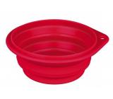 Trixie Miska cestovní, silikonová, skládací červená, průměr 0,25 l