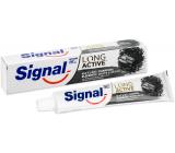 Signal Long Active Naturals Elements Charcoal White & Detox zubní pasta s aktivním uhlím 75 ml