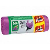 Fino Color Sáčky do odpadkového koše s uchy fialový 60 litrů, 59 x 72 cm, 13 µm, 20 kusů