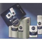 Nivea Men Balm Sensitive balzám po holení 100 ml + pěna na holení 200 ml, kosmetická sada