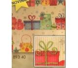 Nekupto Vánoční balicí papír Dárky 0,7 x 1,5 m