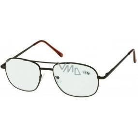 Berkeley Čtecí dioptrické brýle +2,0 hnědé velké 1 kus MC2004