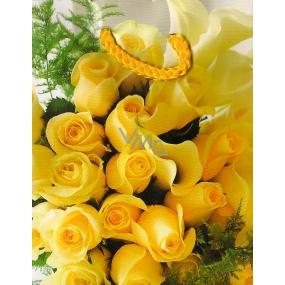Nekupto Dárková papírová taška malá 800 01 BS Žluté růže 14 x 11 x 6,5 cm